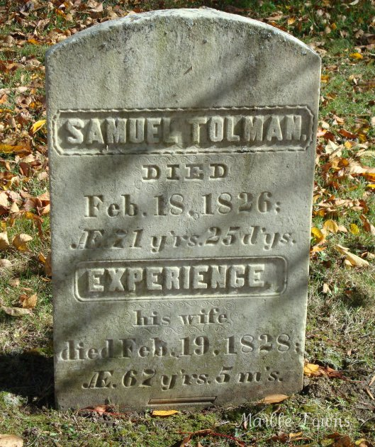 Samuel Tolman and Experience