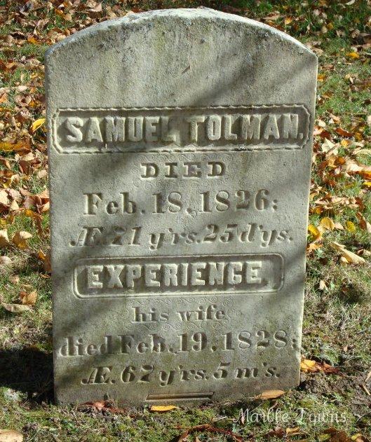 Samuel Tolman and Experience