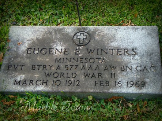 Evergreen Cemetery-Red Wing-MN-Winters-Eugene-WWII