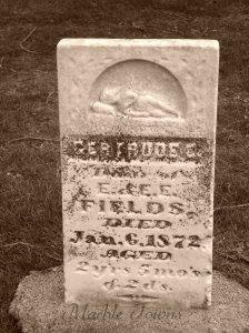 Oakwood Cemetery-Red Wing-MN-Fields-Gertrude-sleeping figure on stone