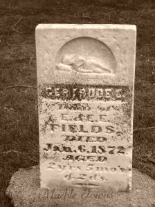 Oakwood Cemetery-Red Wing-MN-Fields-Gertrude-sleeping figure on stone