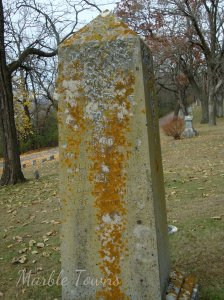 Oakwood Cemetery-Red Wing-MN-Obelisk with names of children